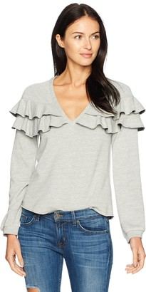 Only Hearts Women's French Terry Ruffle Sweatshirt