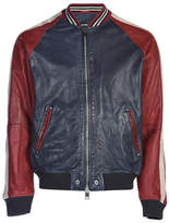Diesel Truly Leather Bomber Jacket