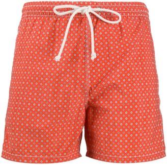 Kiton Geometric Print Swim Shorts