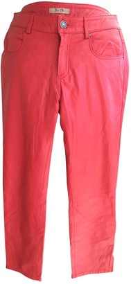 Bel Air Pink Leather Trousers