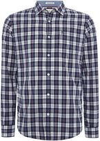 Original Penguin Small-check Oxford Trim Long-sleeve Shirt