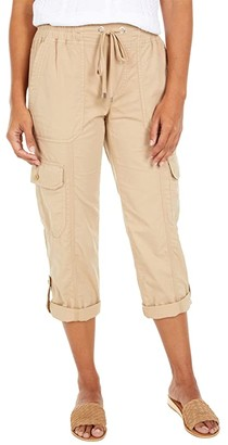 Lauren Ralph Lauren Cotton Twill Cargo Pants (Birch Tan) Women's Casual Pants