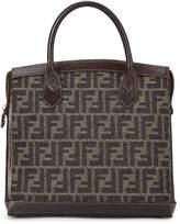 Fendi Brown Zucca Canvas Top Handle Handbag