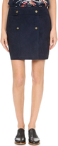Maiyet Suede Wrap Miniskirt