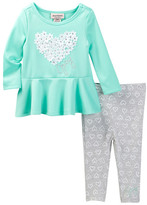 Juicy Couture Heart Tunic & Heart Print Legging Set (Toddler Girls)