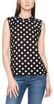 Havren Women's Polka Dot Sleeveless Summer Top Blouse