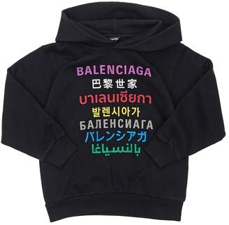 Balenciaga Printed Cotton Sweatshirt Hoodie