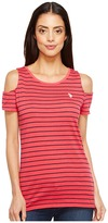 U.S. Polo Assn. Striped Open Shoulder T-Shirt
