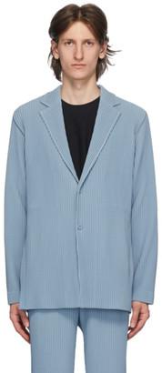 Homme Plissé Issey Miyake Blue Tailored Pleats 2 Blazer