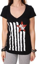 Metal Mulisha Meta Muisha Women's Beautifu Short Seeve V-Neck T-Shirt-arge