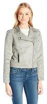 Jack by BB Dakota Women's Marilou Faux Suede Moto Jacket