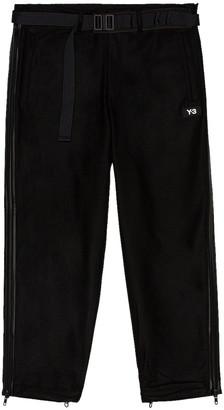 Yohji Yamamoto M Ch3 Wool Flannel Cropped Pants in Black | FWRD
