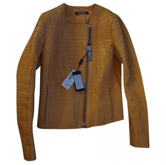 Dirk Bikkembergs Camel Crocodile Jacket for Women