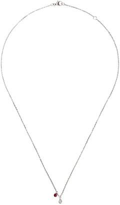 Raphaele Canot 18kt white gold Set Free diamond and ruby necklace
