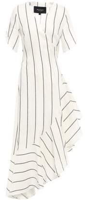 Paper London Lagos Asymmetric Checked Woven Wrap Dress