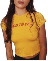 Moore Womens New Fashion Summer Shirt Short Sleeve Tee Tank Crop Tops T-Shirt Blouse (S, )