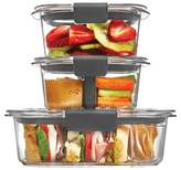 Rubbermaid Brilliance Sandwich Or Snack Lunch Container Combo Kit Clear