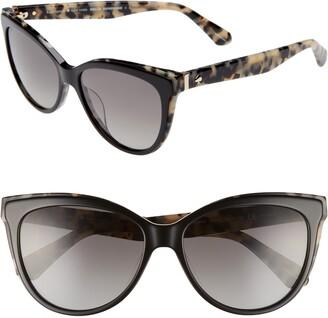Kate Spade Daeshas 56mm Cat Eye Sunglasses