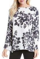 Karen Kane Floral Bell Sleeve Blouse