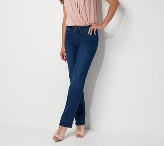 NYDJ Marilyn Straight-Leg Jeans w/ Double Button - Cooper
