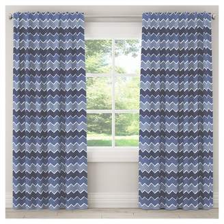 "Skyline Furniture Brush Chevron Blackout Curtain Panel (63""x50"") Navy"