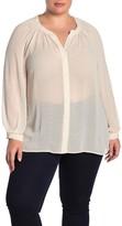 Daniel Rainn Dr2 By Textured Woven Button Down Shirt (Plus Size)