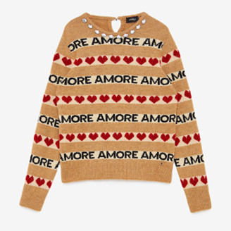 Otto D Ame - Amore Lettering Sweater - 38 | wool / polyamide / acrylic / viscose / polyester / elastane