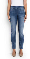 Lands' End Women's Petite Mid Rise Pull On Skinny Jeans-Deep Sea Indigo