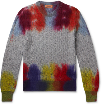 Missoni Space-Dyed Cable-Knit Wool Sweater
