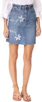 Rebecca Taylor Fleur Patch Denim Skirt