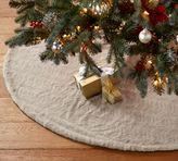 Pottery Barn Quail Faux Fur Tree Skirt - Taupe