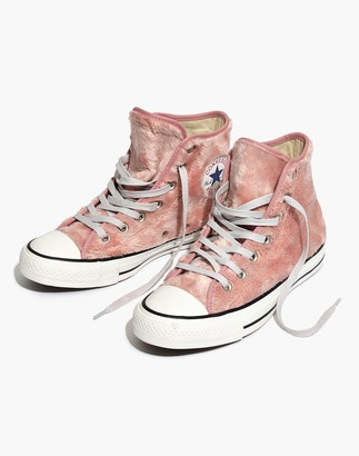 Madewell Converse Chuck Taylor All Star High-Top Sneakers in Faux Fur