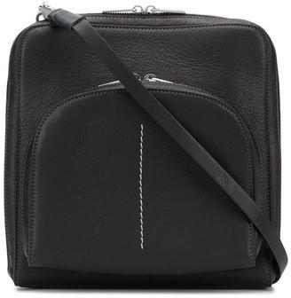 Rick Owens Stitch-Detail Messenger Bag