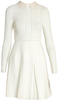 Valentino Pointelle Knit Dress