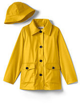 Lands' End Little Girls Rain Slicker-Yellow