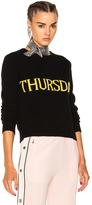 Alberta Ferretti Thursday Crewneck Sweater in Black.