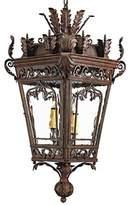 Danya 3 - Light Lantern Geometric Chandelier with Wrought Iron Accents Astoria Grand