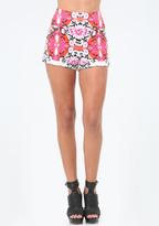 Bebe Print Scuba Cuffed Shorts