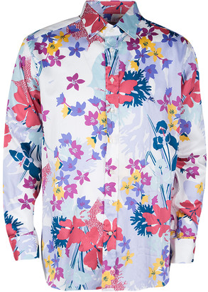 Etro Multicolor Floral Printed Long Sleeve Button Front Shirt XL
