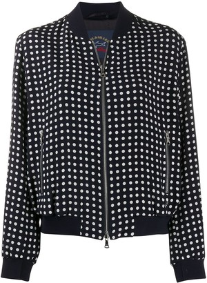 Paul & Shark Polka Dot Bomber Jacket