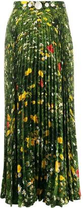 Christopher Kane London Fields print pleated skirt