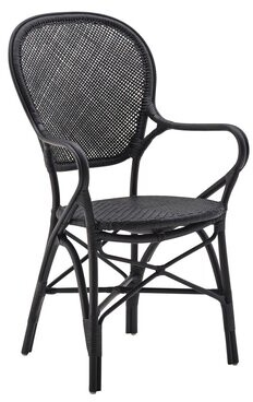 Bungalow Rose Ojas Arm Chair Color: Matte Black