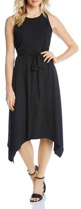 Karen Kane Sleeveless Handkerchief-Hem Dress