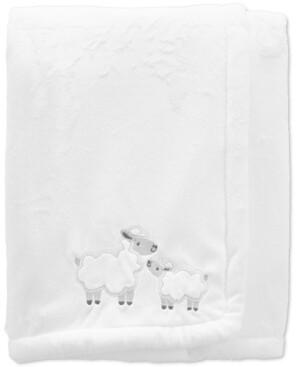 Carter's Baby Neutral Lamb Fuzzy Plush Blanket