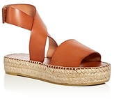 Bettye Muller Seven Leather Ankle Strap Platform Espadrille Sandals