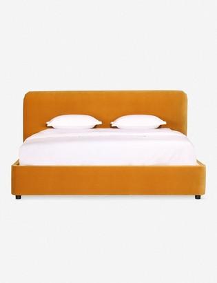 Lulu & Georgia Zien Bed, Mustard Velvet