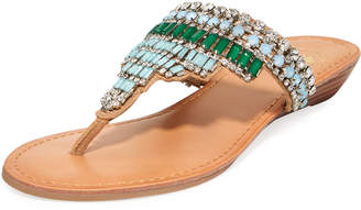 Premium Collection By Yellow Box Embellished Flat Thong Sandals