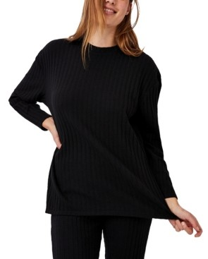 Cotton On Women's Renee Rib Long Sleeve Top