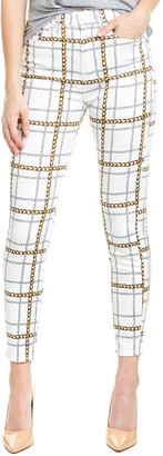 Seven For All Mankind 7 For All Mankind Plaid Chain High-Rise Ankle Skinny Leg Jean