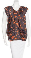 CNC Costume National Abstract Print Sleeveless Top
